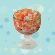 Beijo Frio - NIDE <br/> 2 Bolas de sorvete light, salada de frutas com adoçante.